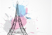 <a href='https://www.freepik.com/free-vector/background-with-tour-eiffel-and-splashes_803891.htm'>Designed by Starline</a>
